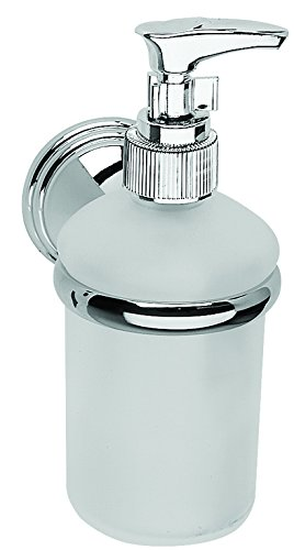 Croydex Westminster Soap Dispenser - Chrome & Glass