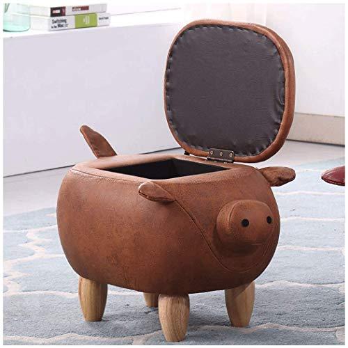 BAIJJ Hängematte Kreative Niedrigen Hocker Ändern Schuh Bank Tragen Schuh Bank Home Storage Bank Test Schuh Bank Fußschemel Schwein Lagerung Bank Hocker Sofa Hocker 58 * 33 * 27 cm (Farbe: D, größ