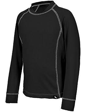 Trespass - Camiseta térmica para niños, Infantil, Mika, negro, Size 2/Size 3