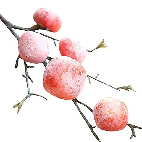 Künstliche Früchte Granatapfel Beeren Blume, tianranrt Fake Künstliche Rose Fruit Granatapfel Beeren Bouquet Floral Home Decor rot
