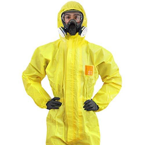 Tuta Protettiva Contro Sostanze Chimiche, Indumenti Protettivi Da Laboratorio Indumenti Protettivi Liquidi Protezione Impermeabile Contro Acidi E Alcali Tuta Protettiva Congiunta(M)