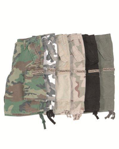 Bermuda Short Paratrooper washed schwarz - Cargo Shorts Damen