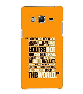 PrintVisa Designer Back Case Cover for Samsung Galaxy Z3 Tizen :: Samsung Z3 Corporate Edition (Quote Love Heart Messages Crazy Express Sorry )