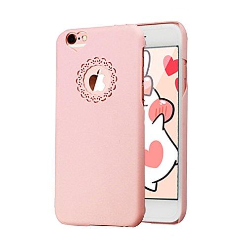 Phone case & Hülle Für IPhone 6 Plus / 6s Plus, Gravur Blume Kunststoff Schutzhülle ( Color : Purple ) Pink