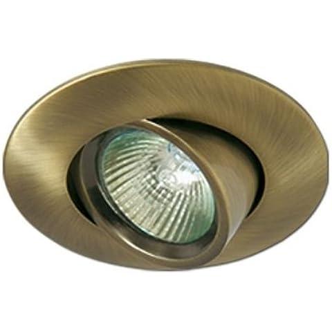 Maslighting - Empotrable basculante y orientable circular Aluminio, colección Turno (Halóge...