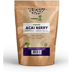Natures Root Acai Pulver Bio (Gefriergetrocknet) - 100% Rohes Antioxidans | Superfood-Beere aus Brasilien (125g)