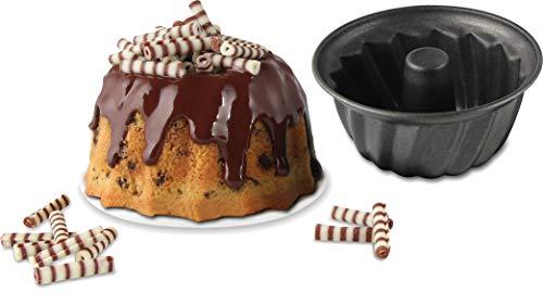Dr. Oetker Gugelhupfform 10 cm, kleine Kuchenform, Bundform aus Stahl mit Antihaftbeschichtung (Farbe: schwarz), Menge: 1 Stück