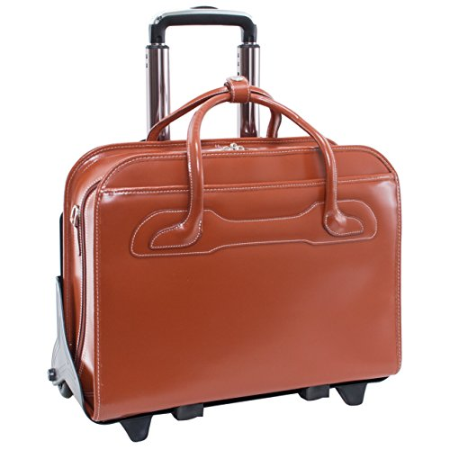 McKleinUSA 94984 Leder patentierte Abnehmbare Rädern Damen-Aktentasche für 15,6 Laptop – Braun (Laptop-aktentasche Leder-wheeled)