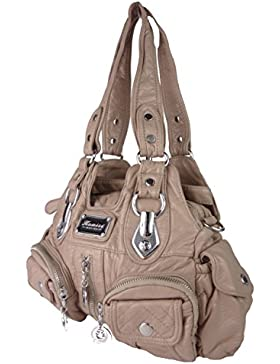 Handtaschen Batik Tasche Liz viele Fächer langer Trageriemen mittelgroß 30 x 20 x 10 cm