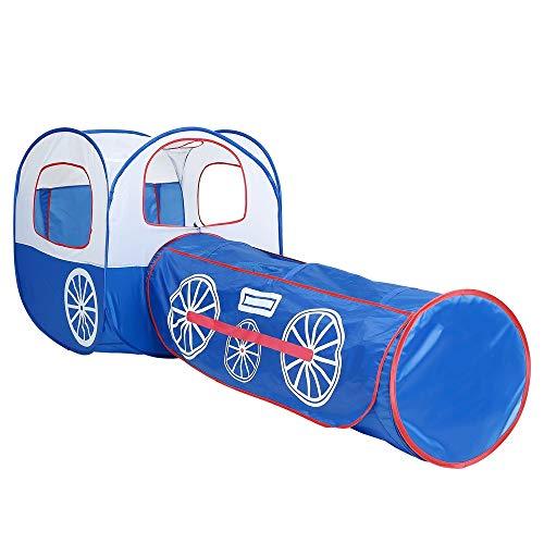 Qingqing 2 In 1 Tunnel Zelt Für Kinder Kleinkind Jungen Mädchen Spielzeug Zu Spielen Und Crawl Outdoor Indoor Pop Up Spielen Zelt Für Kinder Faltbarer Platzsparer mit Tragetasche