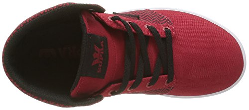 Supra Yorek Hi, Baskets Hautes Mixte Enfant Rouge (Red/Herringbone White)