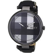 8cbb097a0857 Roxy W213BL 2T - Reloj analógico de mujer de cuarzo con correa de piel negra