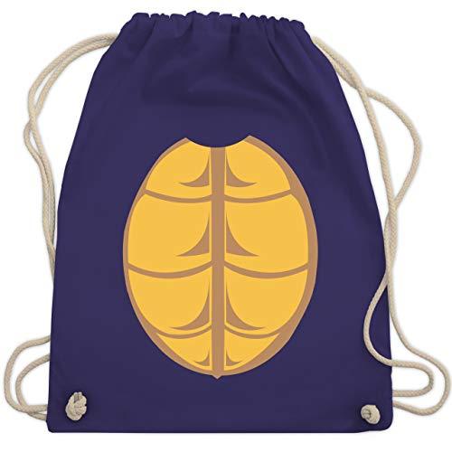 Karneval & Fasching - Kostüm Schildkröte - Unisize - Lila - WM110 - Turnbeutel & Gym - Für Erwachsene Schildkröten Kostüm