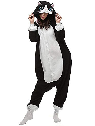 This fluffy costume comes with an attached hood and button up front, it works great as an UNISEX costume or pajamas.  Adult Size: S fit for Height 150-158cmM fit for Height 159-166CML fit for Height 167-175CMXL fit for Height 175-183CM Children Size:...