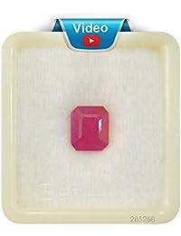 EVERYTHING GEMS 9.25 Ratti 8.55 Carat Ruby Stone Natural Certified Burma Manik Gemstone for Men and Women