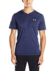 Under Armour UA Tech V-Neck Camiseta Deporte, Hombre, Azul (Midnight Navy), LG