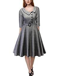 Le Donne Vestiti Vintage Scozzese retrò Audrey Skater Cocktail Midi Vestito e5e71891abc