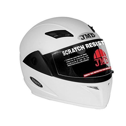 JMD HELMETS Powersports Riding Helmet (White)