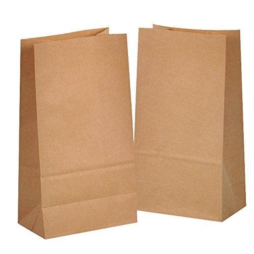50 braune Papier-Beutel Papiertüten Papiertüte 14 x 26 x 8 cm 70 gr./m2 Tütchen Tüten mit Boden Kraftpapier für Geschenktüten Adventskalender Geschenke verpacken