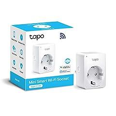 Idea Regalo - TP-Link Presa Wi-Fi Tapo P100, Smart Plug Compatibile con Alexa e Google Home, App Tapo, Controllo dei Dispositivi Ovunque, Nessun hub esterno necessario (presa schuko)