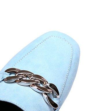 zhENfu Donna Sandali Slingback Comfort suole luce similpelle estate outdoor Abbigliamento Sportivo giunto di separazione tacco basso Chunky HeelAlmond Blu Grigio Gray