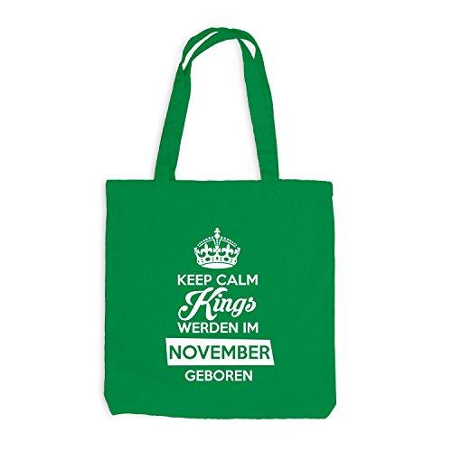 Birthday November werden Kellygrün Kings geboren Calm im Jutebeutel Geburtstag Keep wxAW4Z
