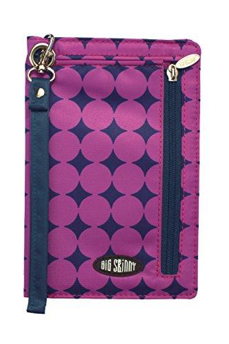 Big Damen Skinny Plus MyPhone Bi Fold Slim Geldbörse pflaume Dot Wristlet, Violett, One size (Big Skinny Bifold)