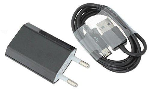 Reido Universal Micro-USB Ladegerät & Datenkabel für alle gängigen Samsung Modelle in SCHWARZ (z.B. Galaxy S7 S2 S3 S4 S5 S6 ) | USB-Adapter Set | USB-Kabel | Ladekabel inkl. Netzteil