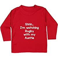 Hippowarehouse Shhh… I'm Watching Rugby With My Auntie Baby Unisex t-Shirt Long Sleeve