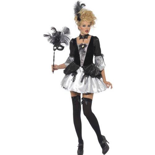 Vampirin Klassische Kostüm - Smiffys Karneval Damen Kostüm Barock Vampirin klassisch zu Halloween Gr.M