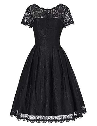 vintage Retro petticoat Kleid Festliche Kleid Lace Kleid S BP168-1