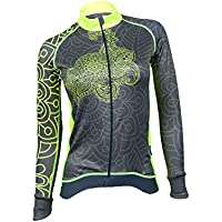 MIMO Women s Long-Sleeved Thermal Cycling Jersey Warm Breathable Long Sleeve  Cycling Shirt with Fleece 26f01696f