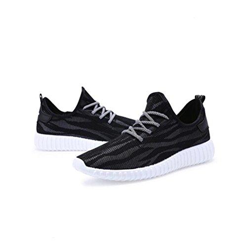 Scarpa da tennis Mesh Fashion Mesh Scarpe da Sport Lace-up Respirabile Estivo Black