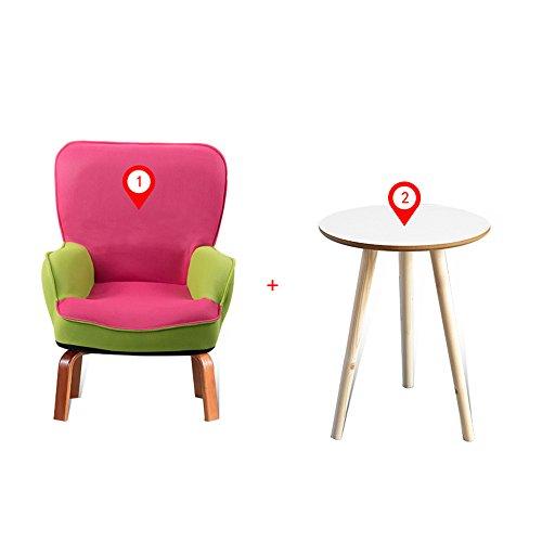 Stühle MEIDUO Haltbare Hocker Sofa Kinder Kindersessel Set Sessel Sitz mit Hocker für den Innenbereich im Freien (Farbe : E, größe : Chair and Table) -