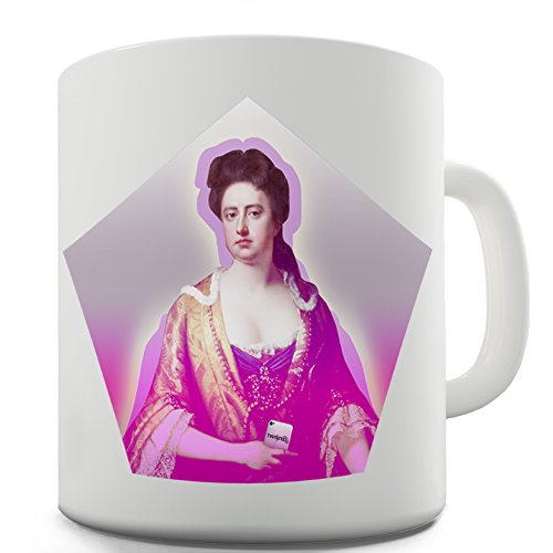 Queen Anne Bone China (Lustige Kaffee Tasse Becher Modern Queen Anne)