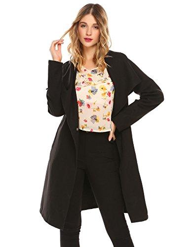Coofandy Damen Chiffon Bluse V-Ausschnitt Elegant Blumen Flare Hülse Langarm Chiffonshirt in 4 Muster Muster 1