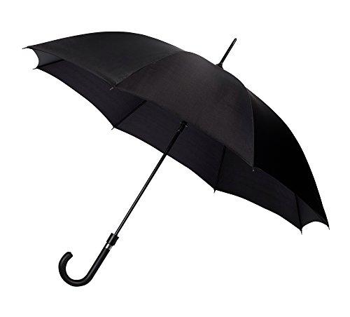 Le Monde du Parapluie - Parapluie Canne avec Ouverture Automatique, 87 cm, Noir
