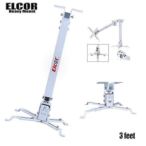 ELCOR Projector Ceiling Mount kit 3 feet Adjustable with -/+15° Tilting