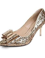 GGX/ Zapatos de mujer-Tacón Stiletto-Confort / Puntiagudos-Tacones-Boda / Vestido / Fiesta y Noche-PU-Rojo / Plata / Oro , golden-us6.5-7 / eu37 / uk4.5-5 / cn37 , golden-us6.5-7 / eu37 / uk4.5-5 / cn37