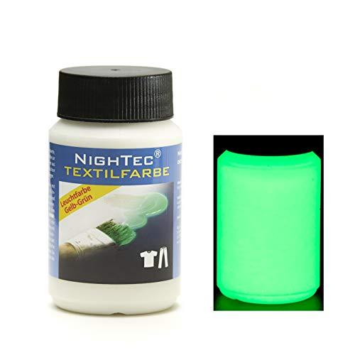 NighTec - Pintura Textil (100 ml), Color Fluorescente