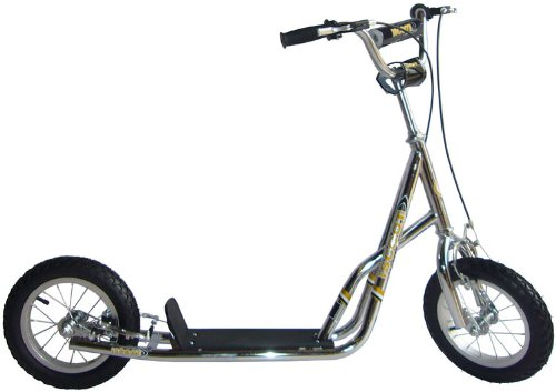"Image of iScoot Chrome Push Scooter Bike with Monster Wheels (12"") - The ultimate Push Bicycle for girls / boys / kids and children"