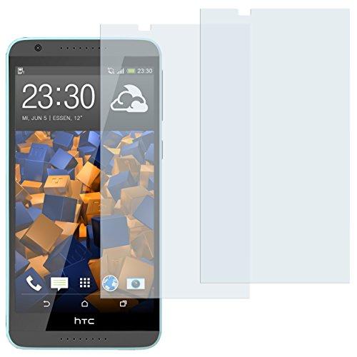 mumbi Schutzfolie kompatibel mit HTC Desire 820 Folie klar, Bildschirmschutzfolie (2x)