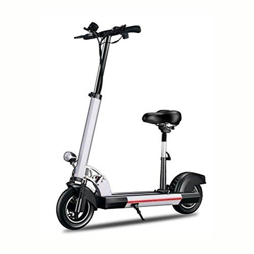 DAHEMA Electrico Patinetes E-Scooter Para Adultos Altura Ajustable Con Asiento-Acero Aleado,Dura 25Km,Máxima Velocidad 20KM/H(Negro)