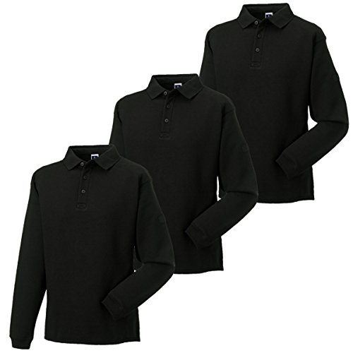 Russell Athletic Herren Sweatshirt, Kein Muster * Black - Pack of 3