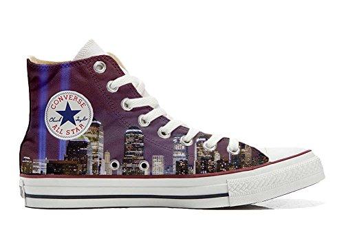 Converse Customized Chaussures Coutume (produit artisanal) Vue de New York