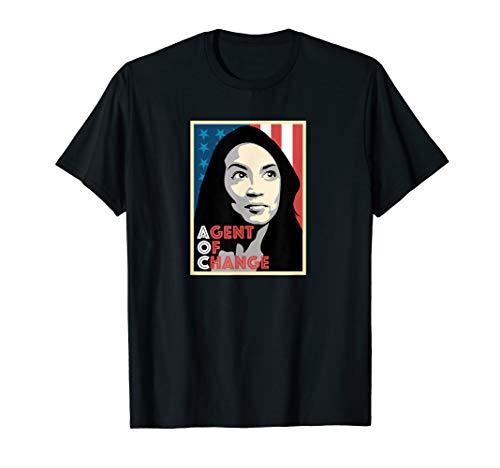 Alexandria Ocasio-Cortez AOC Agent of Change t-shirt | Gift -