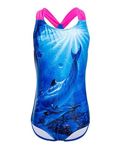 manzug Mädchen Badeanzüge Tiger Druck Swimsuit Strandwear,Größe L ()