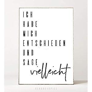 DIN A4 Kunstdruck Poster VIELLEICHT -ungerahmt- Typografie, Schrift, Spruch, Leben, witzig