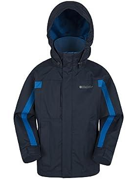 Mountain Warehouse Chaqueta Samson para niños - Puños ajustables, bolsillos, chaqueta con capucha ajustable para...