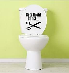 Aufkleber Für Toilettendeckel : dinger design aufkleber toilette klo klodeckel ~ Watch28wear.com Haus und Dekorationen